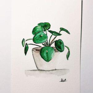 Money Plant Custom Card - ccmonstersart