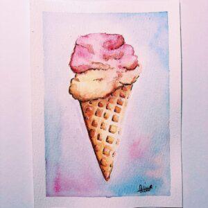 Ice Cream Custom Card - ccmonstersart