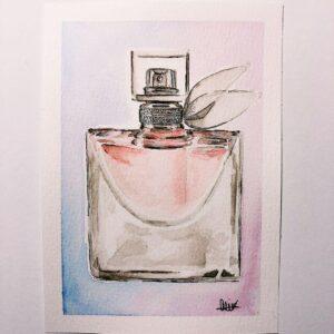 Chloe Perfume Custom Card - ccmonstersart
