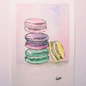Macarons Custom Card - ccmonstersart