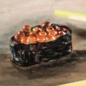 Realism Sketching- sushi by Artist Celine Chia