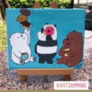 Art Jamming Singapore - We Bare Bears - We Bare Bears