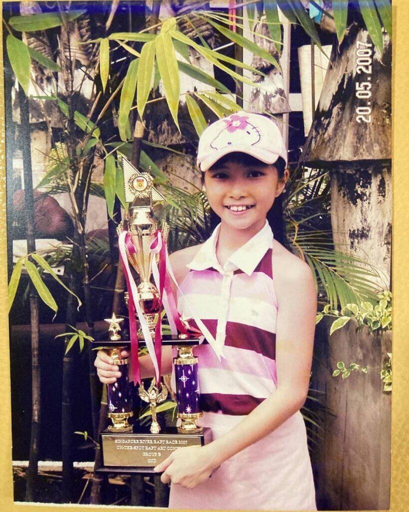 Celine's first trophy, 2007 SG river Dragon Boat Art Competition