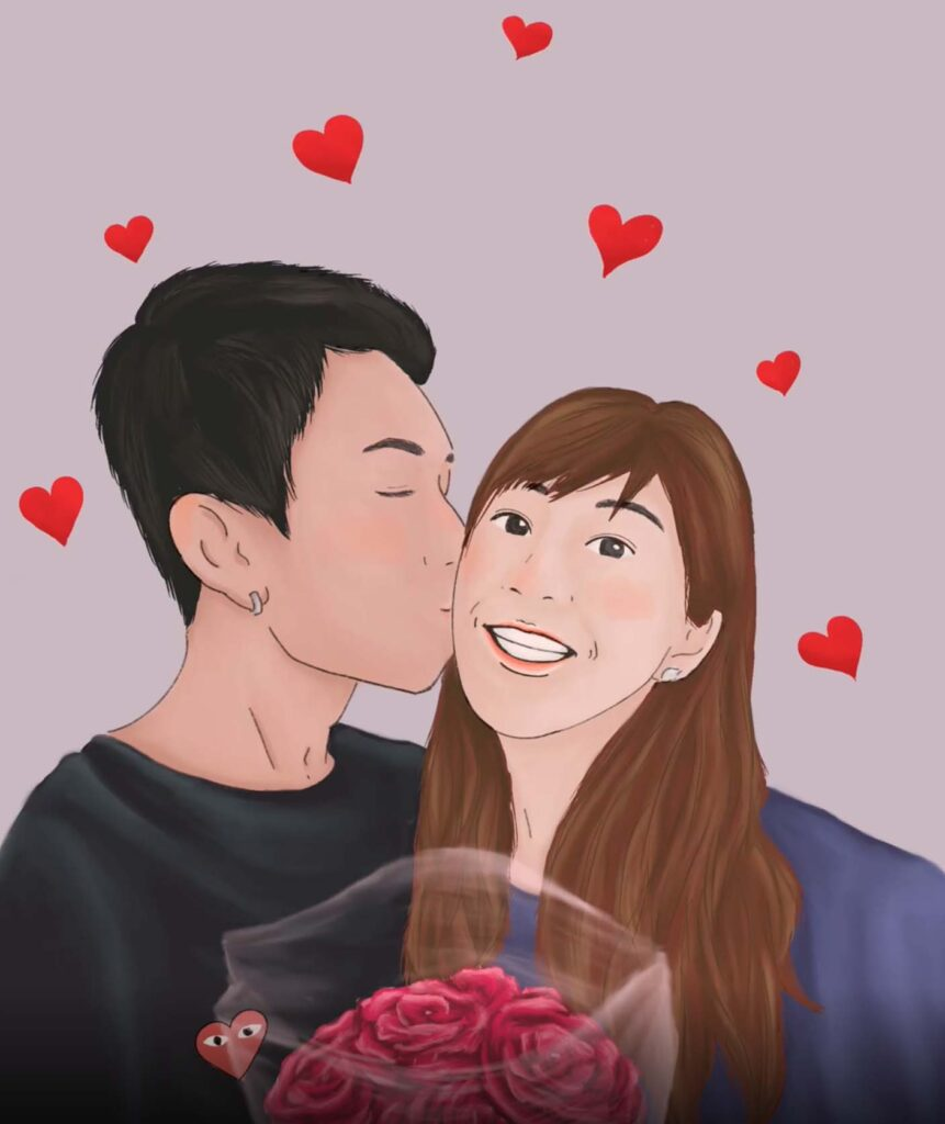 Digital Art in Singapore - Valentine's Day vector art Commission