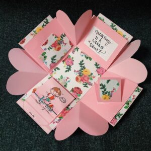 Explosion Box in Singapore - Nurses Day themed box (pink)