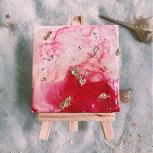 Pour Paint Mini Canvas DIY Kit (Pink)