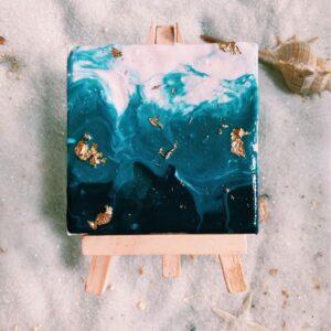 Pour Paint Mini Canvas DIY kit (Green) Singapore