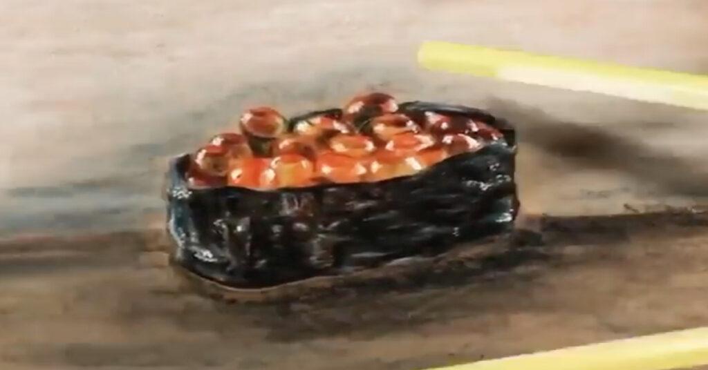 Celine's realism sketching - sushi