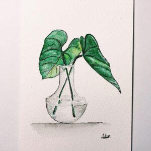 Water Plant Custom Card
