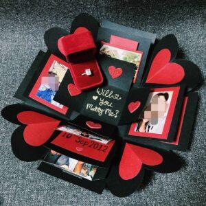 Customised Explosion Box by Singapore Artist Celine Chia