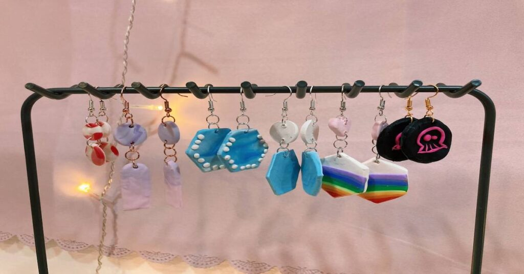 Clay Art in Singapore - Polymer Clay Earrings