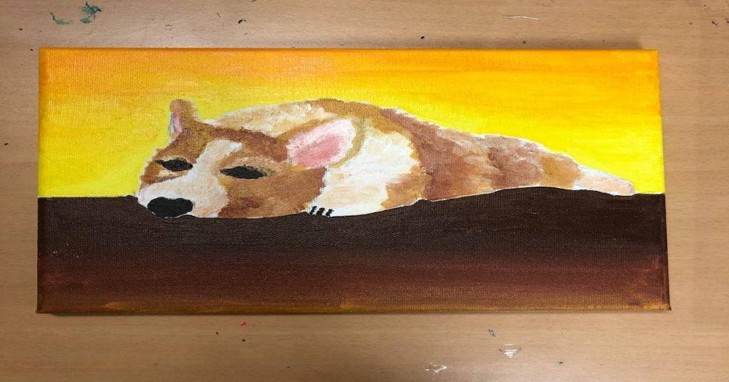 Art Jamming for beginners - animal theme, Ngiri Dog painting
