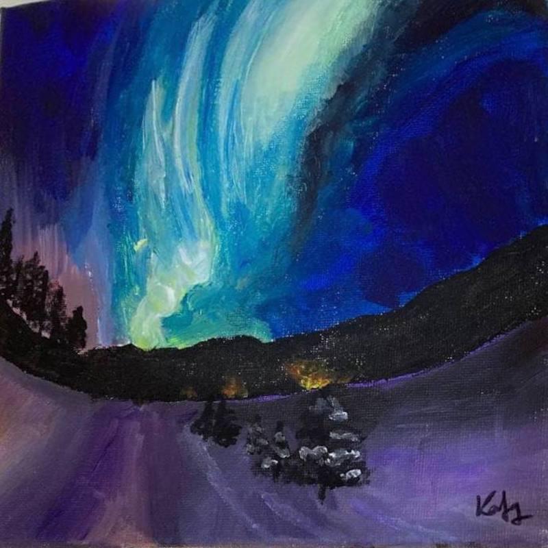 Acrylic painting: Northern Lights