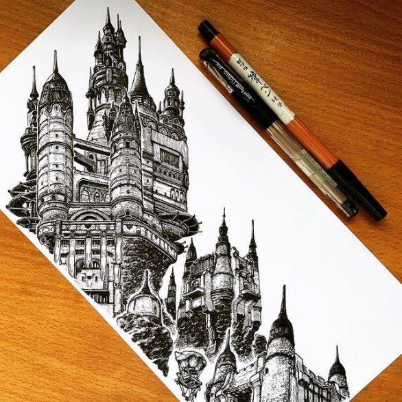 Limisa Lominsa City State,Artist Joel, 2020, realism sketching Singapore, Artist Joel Rong 2020