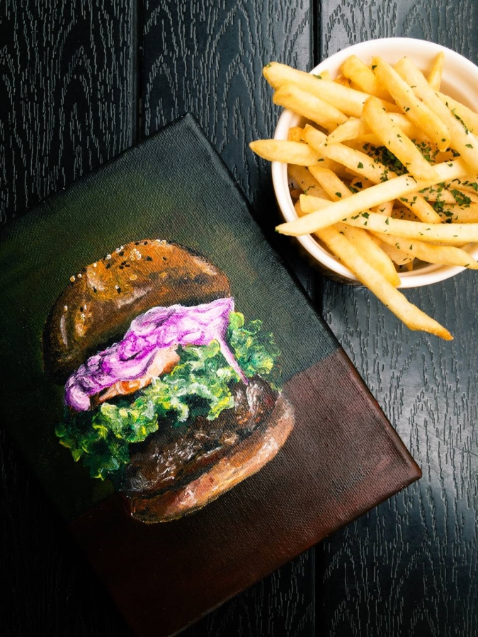 Realistic Burger, Artist Celine Chia (2020)