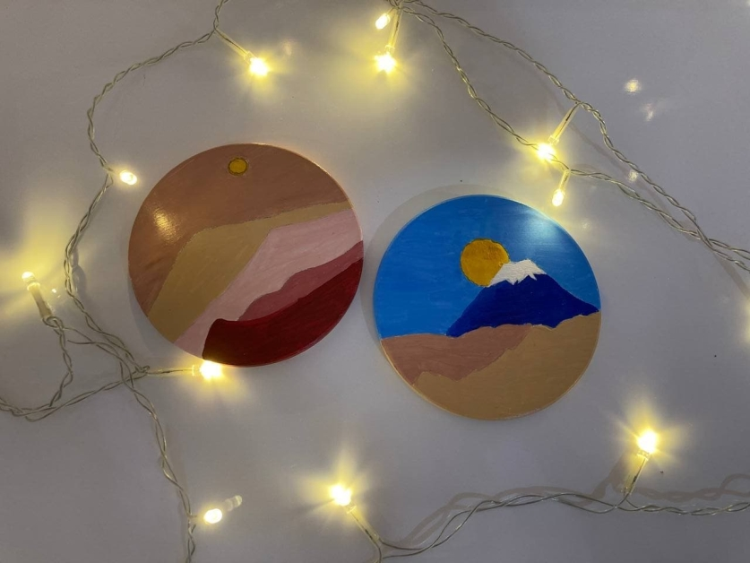 Minimalist Acrylic Coaster Painting