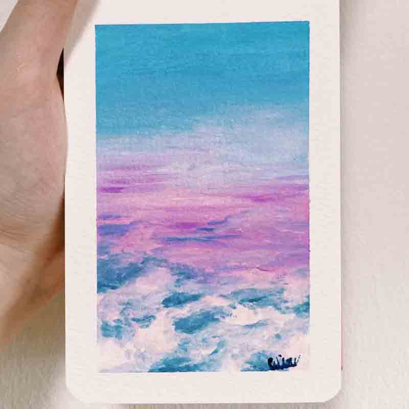 Paint Your Own Postcard: A view from above by artist celine chia