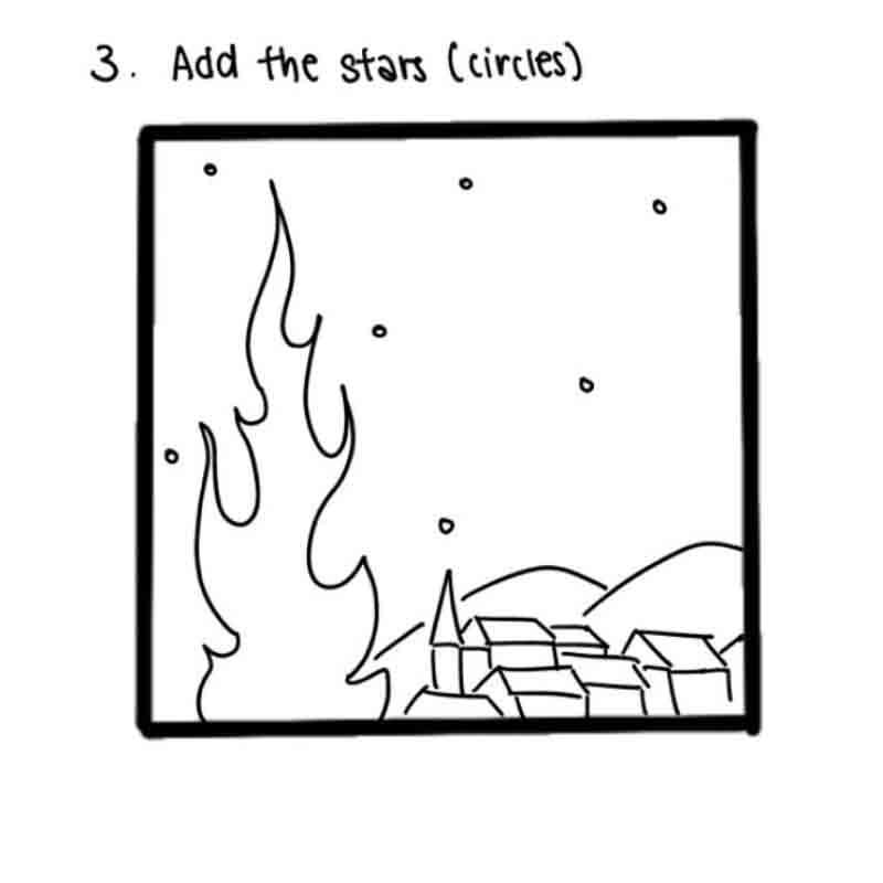 Starry Night Mini Canvas- step 3, Add the stars