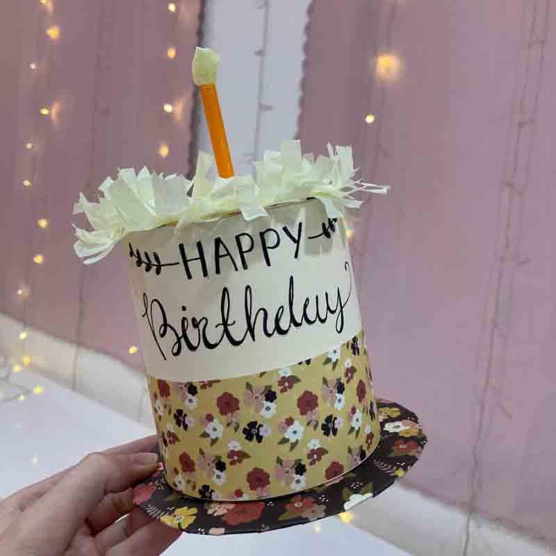 Paper Birthday Cake Craft Idea