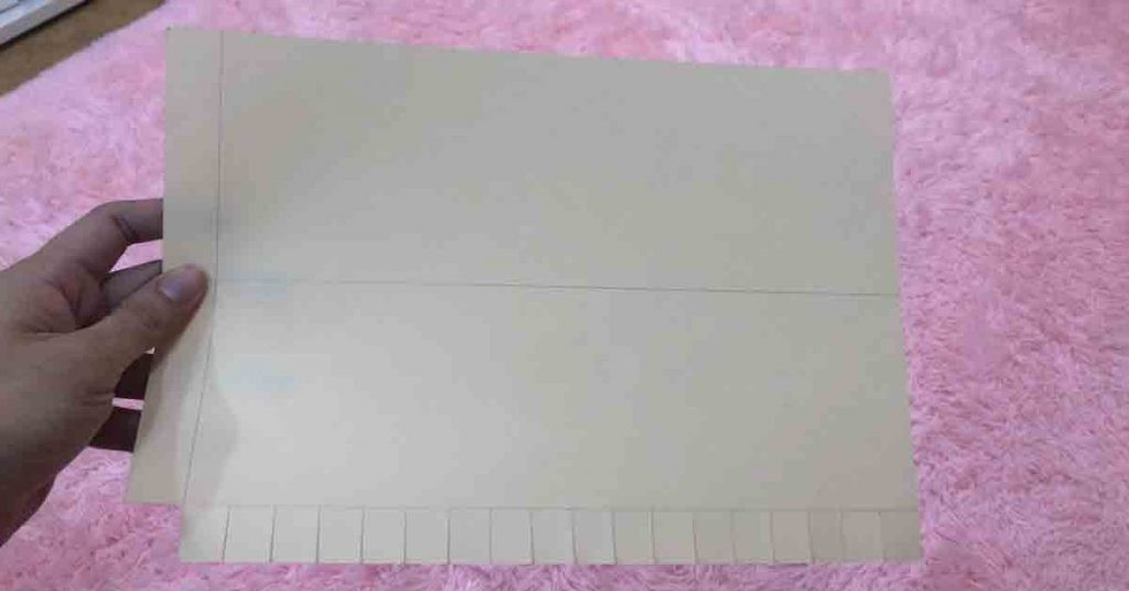 Trim the Flaps and Remove the Bottom Leftmost Strip