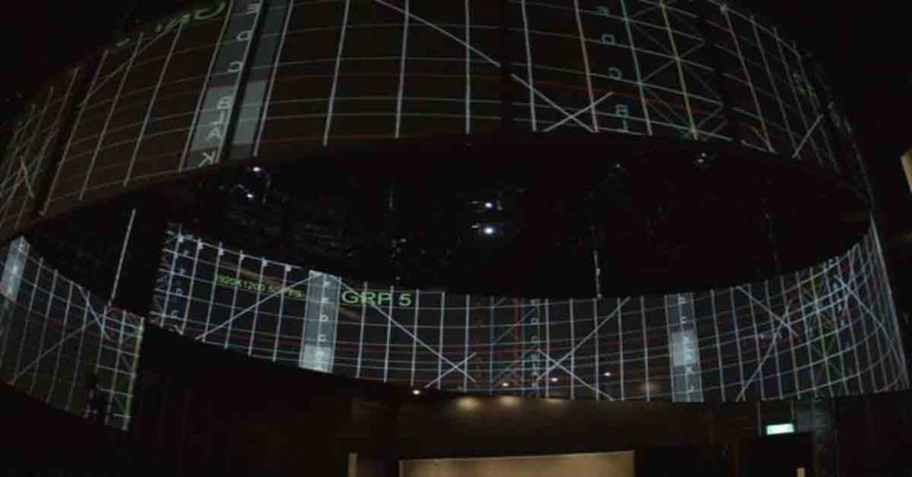 360 Degree Projection Mapping of Changi Airport Jewels Visitor Gallery, 2016