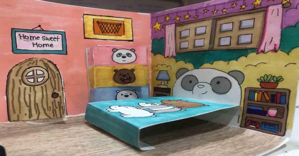3D Pop-up Paper Dollhouse Craft