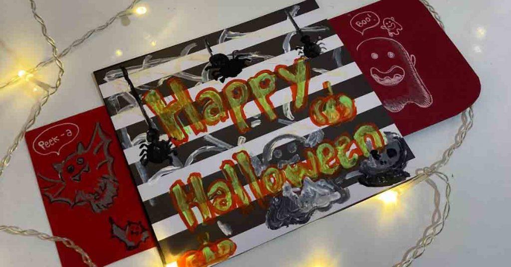Halloween Craft Ideas 2021 - Peekaboo Card
